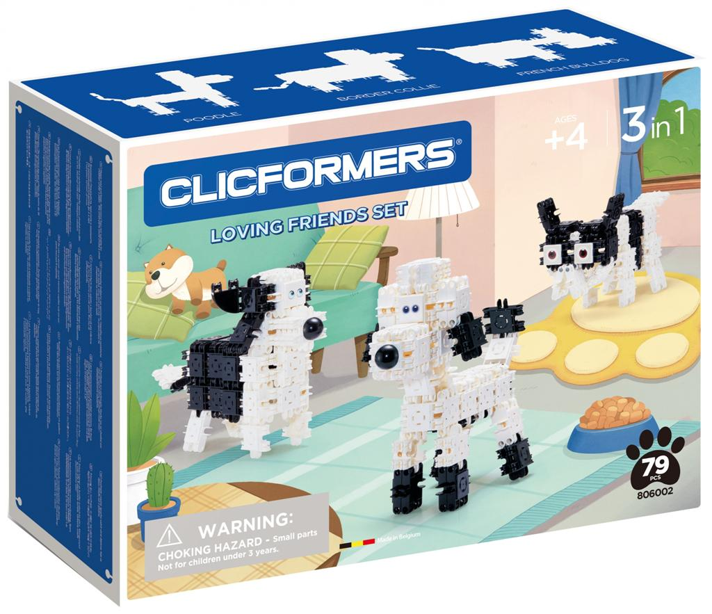#806002 CLICFORMERS loving friends black & white od Clics.pl