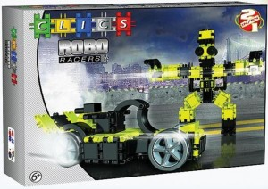 AB002 Klocki CLICS Robo Racers Box Yellow